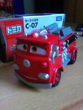 Disney Cars Tomica C-07 Red die Feuerwehr Maßstab 1:64