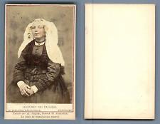 Couvée, La Haye, costume des pays bas Beijerland vintage carte de visite, CDV