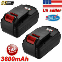 18V 3.6Ah 18V Battery For PORTER-CABLE PC18B PCC489N Cordless Tools PC188 2Pack
