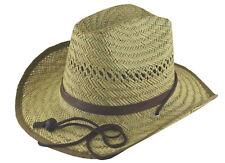 MG Mat Straw Fedora Lifeguard Hat Medium #8745
