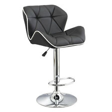 LEATHER BAR/COUNTER STOOL ADJUSTABLE TWO-TONE SPYDER BARSTOOL-SET OF 2 WHTLIN
