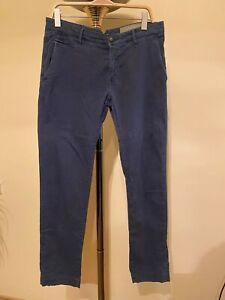 Jacob Cohen Academy Men's Chino Pants Navy Size 33  W36L31