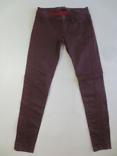 Stretch Hose GUESS Jeans BEVERLY SKINNY W25 weinrot bordeaux  /J126