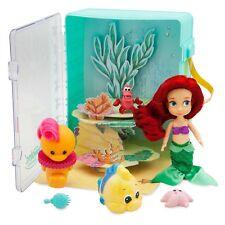 Official Disney Store Ariel Mini Micro Animators Doll 6 Piece Toy Playset