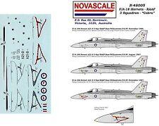 RAAF F/A-18 Hornet Decals 1/48 Scale 3 Sqn Cobra N48005