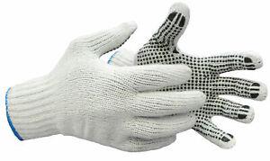 12 PAAR Strickhandschuhe mit Grip-Noppen Noppenhandschuhe Arbeitshandschuhe
