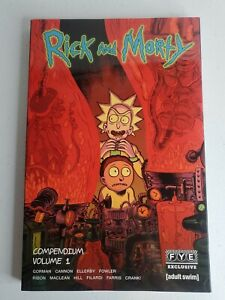 RICK AND MORTY COMPENDIUM VOLUME 1 FYE EXCLUSIVE COVER GRAPHIC NOVEL