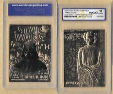 Star Wars Princess Leia 23 Kt Karat Gold Card Sculptured Graded GEM MINT 10
