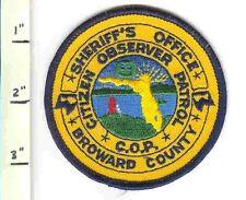 Old Broward Sheriff FL Fla Florida Citizen Observer COP Police Shoulder Patch