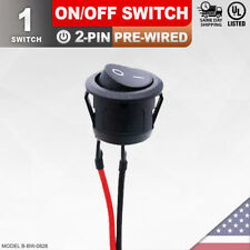 Heavy Duty Onoff Pre Wired Switch 2 Pin Toggle Rocker Wire Push Button Spst