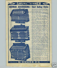 1907 PAPER AD Novitat Accordeon German Triumph Banjo Violin bows