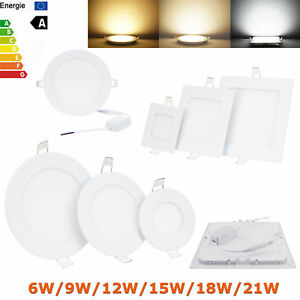 Dimmable LED Panel Light 9W 12W 15W 18W 21W Epistar Recessed Ceiling Down Lights