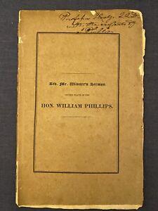 1827 Benjamin B Wisner Sermon William Phillips Funeral Old South Church Boston