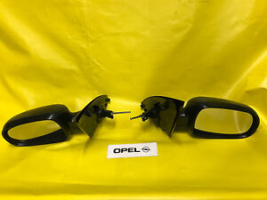 New Exterior Mirror Set Opel Corsa C + Combo Black Kpl with Glass And Cover