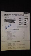 sharp qt-78 Service Manual Original book boombox ghettoblaster tape player radio