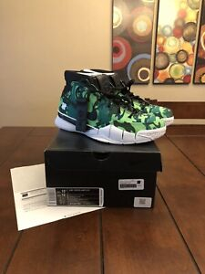 Size 10.5 Nike Kobe 1 Protro Undefeated Green Camo (Silver Lake) BV1207-903