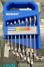 New Kobalt 8pc Flex Box End Ratcheting Combination Wrench Set Sae 2884740 81709