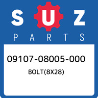 09107-08005-000 Suzuki Bolt(8x28) 0910708005000, New Genuine OEM Part