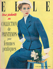 ▬►Elle 328 SPECIAL COLLECTION PRINTEMPS 1952_MODE FASHION VINTAGE