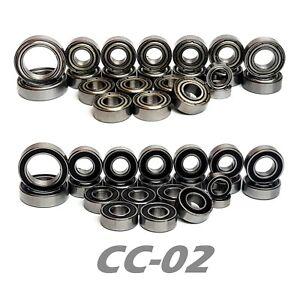 Bearing Set for TAMIYA CC02 CC-02 CC 02 COMPLETE 22 Bearings RUBBER/METAL Seals