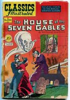 Classics Illustrated, The House of Seven Gables #52, $0.10 - 1st Ed. HRN 53, GD