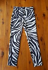 CHARLIE BROWN Black/Grey/Cream Animal Stretch Pants Size 6