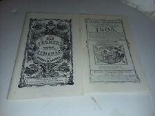 Reproduction 1905 The Old Farmers Almanac & 1805 The Farmers Almanac