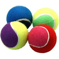 4 ASSORTED COLOURFUL TENNIS BALLS DOG FETCH OUTDOOR PLAY