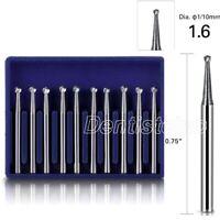 Dental Tungsten Carbide Bur Round Type for High Speed Handpiece FG 5 10pc/Kit