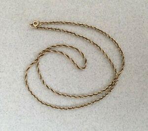 VINTAGE 9ct GOLD TWIST CHAIN NECKLACE 22 inch 56cm 6.74g 1987 hallmarked