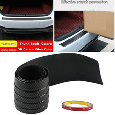 90CM Car Trunk Sill Scuff Plate Guard Strip Protector Rear Bumper Sticker Cover