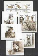 I1108 BURKINA FASO FAUNA DOMESTIC ANIMALS PETS CATS DOGS !!! 2KB+4BL mnh