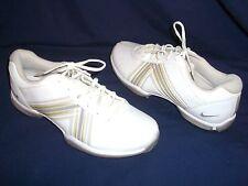 NIKE White Leather Soft Spike GOLF Cleats Shoes - Wms 7.5 - EUC