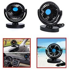 12V Vehicle Mini Fan w/2 Speed Strong Wind Car Air Conditioner 360 ° Universal