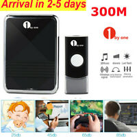 1byone 1000FT Wireless Waterproof Doorbell Chime Battery Household Thanksgiving