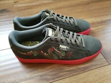 Puma Court Classic Dragon Patch Men's Shoes Burnt Olive/High Risk Red, Size 9