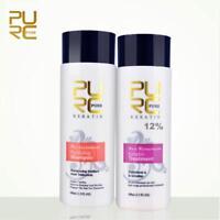 Brazilian Keratin 12% Hair Treatment Care Repair Damaged + Purifying Shampoo