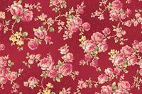 Cottage Shabby Chic Quilt Gate RURU Bouquet Rose Spray Fabric RU2200Y-17E BTY