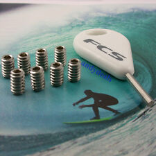 8 FCS Genuine  Surfboard Fin Screws and Genuine FCS Hex Key Fits all FCS Fin Box