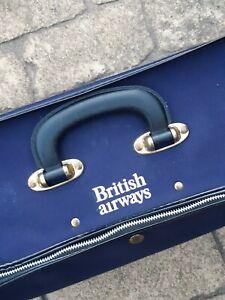 BRITISH AIRWAYS Rare Vintage Canvas Cabin Crew Holdall Luggage Bag Suitcase