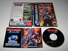 Die Hard Arcade-Sega Saturn-Reino Unido PAL-en muy buena condición COND En Caja Y Completo