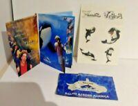 Seaworld Shamu Tattoos Set of 12 & 4 Postcards & 2 Vinyl Stickers