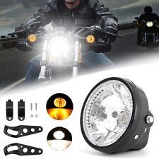 """7"""" 35W Phare de Moto LED Clignotant Lumière Ampoule Headlight Pour Cafe Racer"""