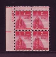 #907 ALLIED NATIONS PLATE BLOCK. EXTRA FINE 1. NEVER HINGED, OG. CHOICE!