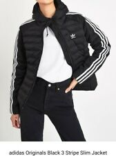 Adidas Originals 3 Stripes Slim Fit Hooded Jacket Ladies Size: 12