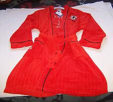 St Kilda Saints AFL Mens Est Red Embroidered Fleece Dressing Gown Robe New