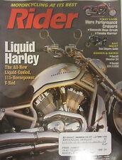Rider Magazine September 2001 Liquid Harley Kawasaki Mean Streak  Ducati Monster