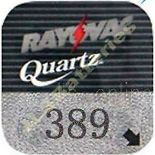 Rayovac 389 Quartz Watch Battery SR1130W AG10 SR43 D389