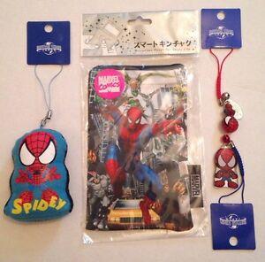 Universal Studios Japan Marvel SPIDERMAN Keychains & Smart Phone Microfiber Case