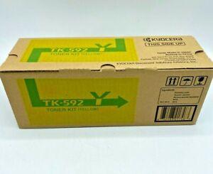 Kyocera TK-592Y YELLOW Original Toner Kit *NIB* (CT)